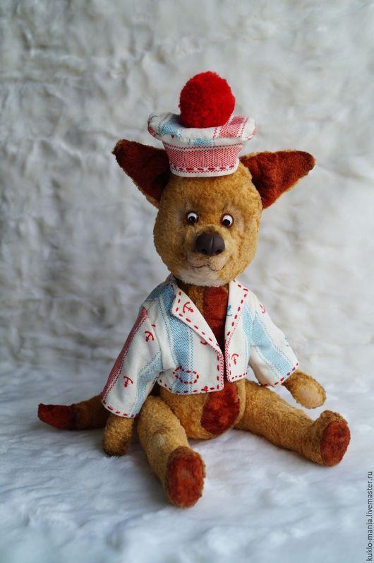 Мишки Тедди ручной работы. Ярмарка Мастеров - ручная работа. Купить лисенок Морячок. Handmade. Желтый, плюшевая игрушка, хлопок