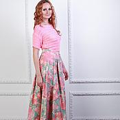 Одежда ручной работы. Ярмарка Мастеров - ручная работа Юбка длинная со складками джинс хлопок 100% юбка в пол. Handmade.