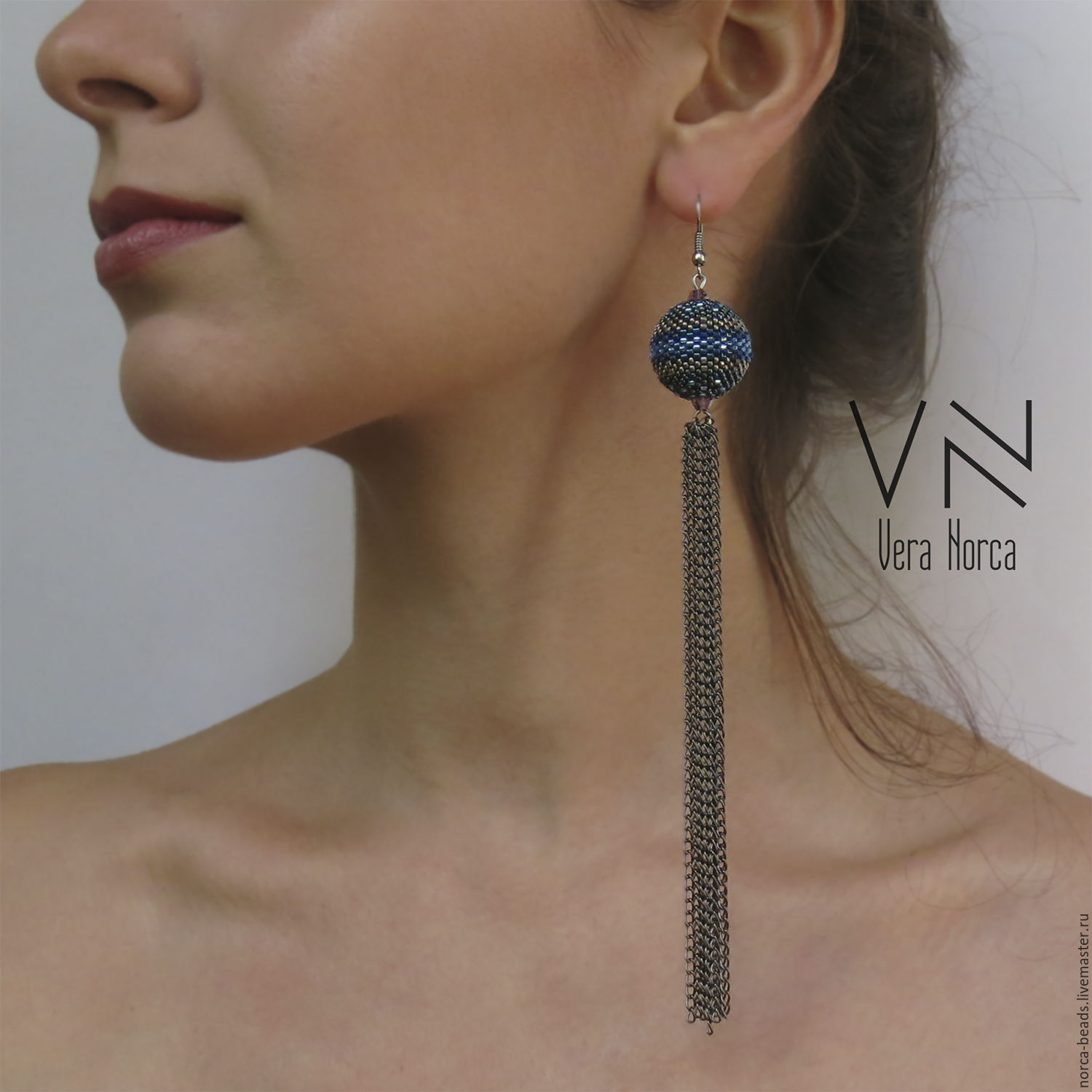 very long earrings beaded � shop online on livemaster with