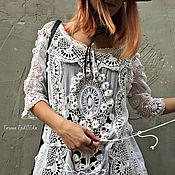 """Одежда ручной работы. Ярмарка Мастеров - ручная работа Туника """"Белой акации гроздья душистые"""" воплощение музейного платья. Handmade."""