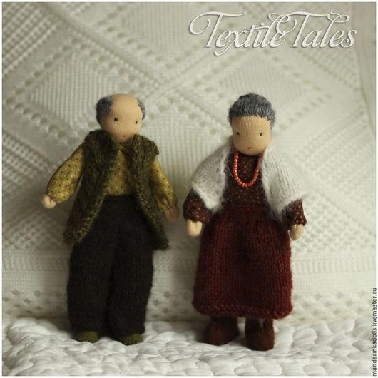 Вальдорфская игрушка ручной работы. Ярмарка Мастеров - ручная работа. Купить Каркасные куколоки Бабуля и Дедуля. Handmade. Разноцветный