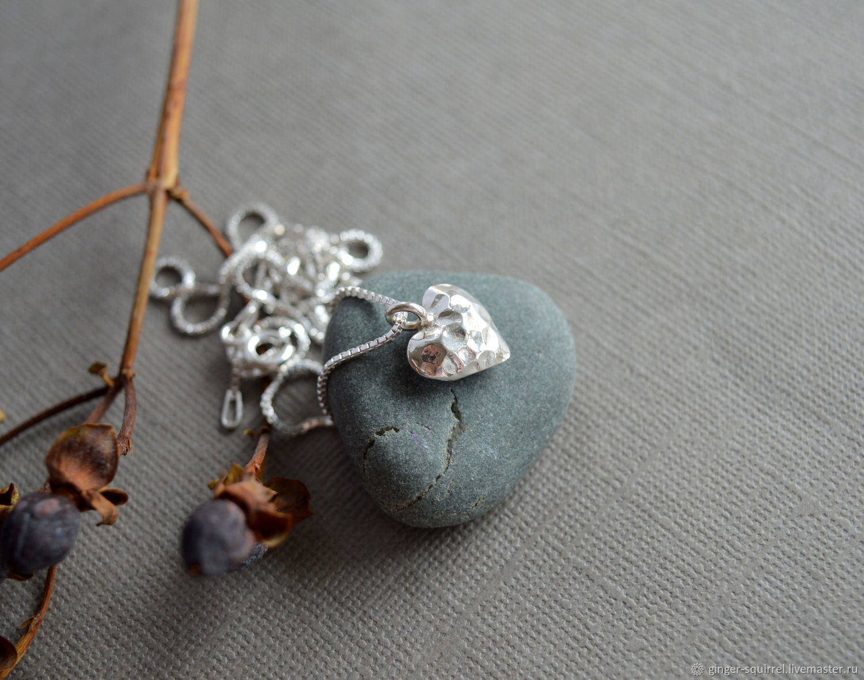 Silver Heart pendant on a chain, Pendants, St. Petersburg,  Фото №1