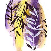 """Картины и панно ручной работы. Ярмарка Мастеров - ручная работа """"Оливы"""", 4 акварели.. Handmade."""