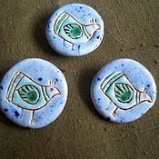 Материалы для творчества handmade. Livemaster - original item Ceramic buttons (assorted). Handmade.