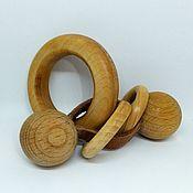 Куклы и игрушки handmade. Livemaster - original item Wooden toy rattle Motor skills. Handmade.
