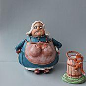 """Банки ручной работы. Ярмарка Мастеров - ручная работа Банка для продуктов """"Веселая молочница"""". Handmade."""