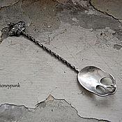 Посуда ручной работы. Ярмарка Мастеров - ручная работа Ложечка Skull, серебро RES. Handmade.
