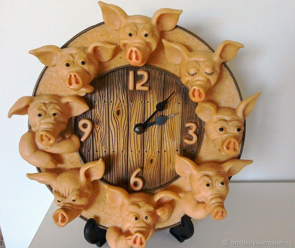 """Винтаж: Винтажные настенные часы """" Свинский двор"""".Англия, Винтажные предметы интерьера, Кембридж, Фото №1"""