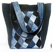 Сумки и аксессуары handmade. Livemaster - original item Bag boho denim shoulder bag casual big. Handmade.