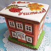 Сувениры и подарки handmade. Livemaster - original item Gingerbread school. Gingerbread on teacher`s Day, gingerbread on September 1. Handmade.