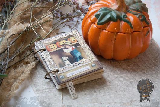 """Подарки на Хэллоуин ручной работы. Ярмарка Мастеров - ручная работа. Купить Блокнот """"Канун всех святых"""". Handmade. Блокнот, хеллоуин"""