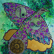 Картины и панно ручной работы. Ярмарка Мастеров - ручная работа Птица дождя. Handmade.