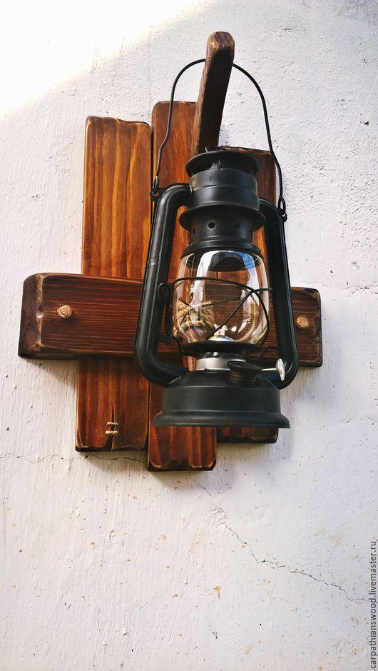 Освещение ручной работы. Ярмарка Мастеров - ручная работа. Купить настенный светильник. Handmade. Коричневый, настенный декор, ёль
