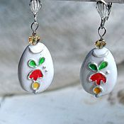 Украшения handmade. Livemaster - original item Earrings with a bit of summer. Handmade.
