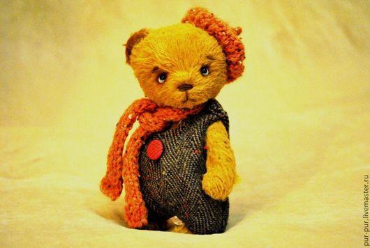 Мишки Тедди ручной работы. Ярмарка Мастеров - ручная работа. Купить Мечташка Флип. Handmade. Желтый, тедди мишка, teddy