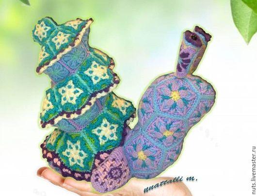 Вязание ручной работы. Ярмарка Мастеров - ручная работа. Купить Мастер-класс на игрушку из мотивов Улитка + Ёлка-ракушка - 2х1 ). Handmade.