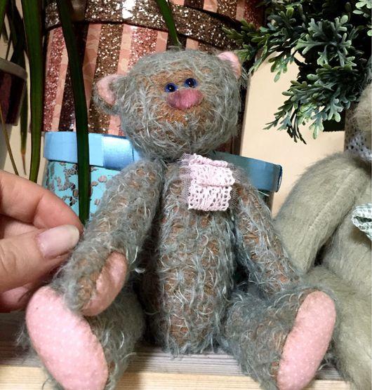 Мишки Тедди ручной работы. Ярмарка Мастеров - ручная работа. Купить Винтажный мишка с голубыми глазками. Handmade. Мишка, теддик