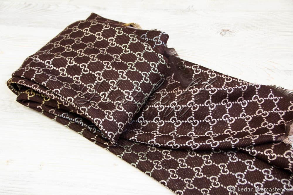 Brown handkerchief fabric multicolour Gucci Monogram, Shawls1, Moscow,  Фото №1