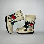 """Обувь ручной работы. Ярмарка Мастеров - ручная работа Валенки детские """" Детская зима"""". Handmade."""