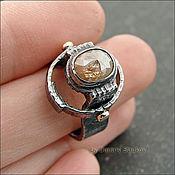 Украшения ручной работы. Ярмарка Мастеров - ручная работа Перстень с алмазом. Handmade.