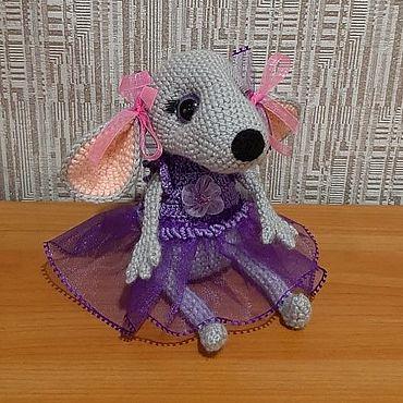 Куклы и игрушки ручной работы. Ярмарка Мастеров - ручная работа Игрушки: мышка девочка. Handmade.