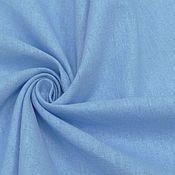 Материалы для творчества ручной работы. Ярмарка Мастеров - ручная работа Ткань натуральная лён с хлопком светло голубой. Handmade.