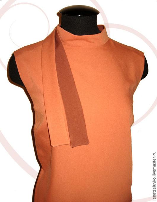 """Платья ручной работы. Ярмарка Мастеров - ручная работа. Купить Платье на каждый день """"Двухцветное"""". Handmade. Коричневый, дизайнерская работа"""