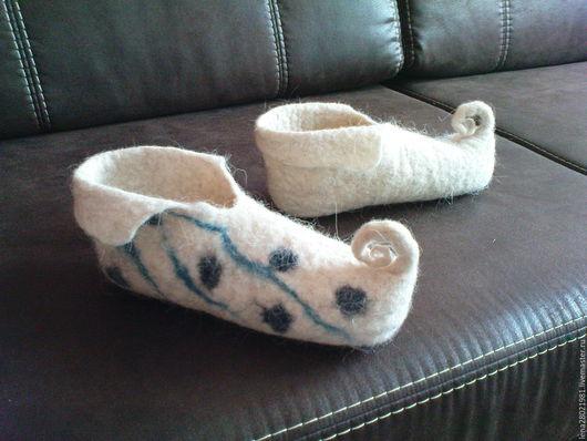 Обувь ручной работы. Ярмарка Мастеров - ручная работа. Купить башмачки. Handmade. Банные тапочки, 36 размер домашняя обувь