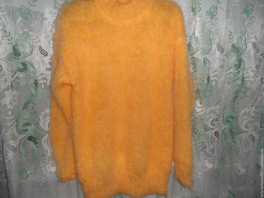 Кофты и свитера ручной работы. Ярмарка Мастеров - ручная работа. Купить Пушистый пуловер желтого цвета. Handmade. Желтый, уютный