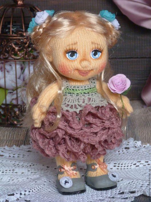 Человечки ручной работы. Ярмарка Мастеров - ручная работа. Купить Кукла Розочка. Handmade. Комбинированный, вязаная игрушка, подарок ребенку