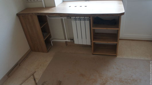 Мебель ручной работы. Ярмарка Мастеров - ручная работа. Купить Стол - подоконник (массив дуба). Handmade. Коричневый, балкон