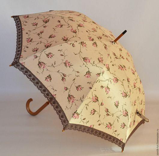 """Зонты ручной работы. Ярмарка Мастеров - ручная работа. Купить Зонт от солнца """" Зайцевская роза"""". Handmade. Бежевый, от солнца"""