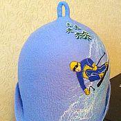 """Для дома и интерьера ручной работы. Ярмарка Мастеров - ручная работа Шапка банная """"Горнолыжник-3"""". Handmade."""
