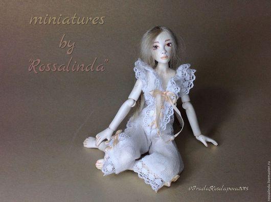 Одежда для кукол ручной работы. Ярмарка Мастеров - ручная работа. Купить Ночной кобинезончик для ангелочка! На куклу Анастасии Немцовой. Handmade.