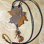 Украшения handmade. Livemaster - original item Author`s jewelry Pendant-pendant Maple leaf. Handmade.