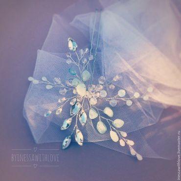 Свадебный салон ручной работы. Ярмарка Мастеров - ручная работа Свадебное украшение. Украшение для прически невесты. Handmade.