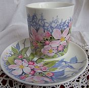 Посуда handmade. Livemaster - original item Apple flowers (porcelain). Handmade.