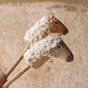 Куклы и игрушки ручной работы. Ярмарка Мастеров - ручная работа Лошадки на палочках. Handmade.