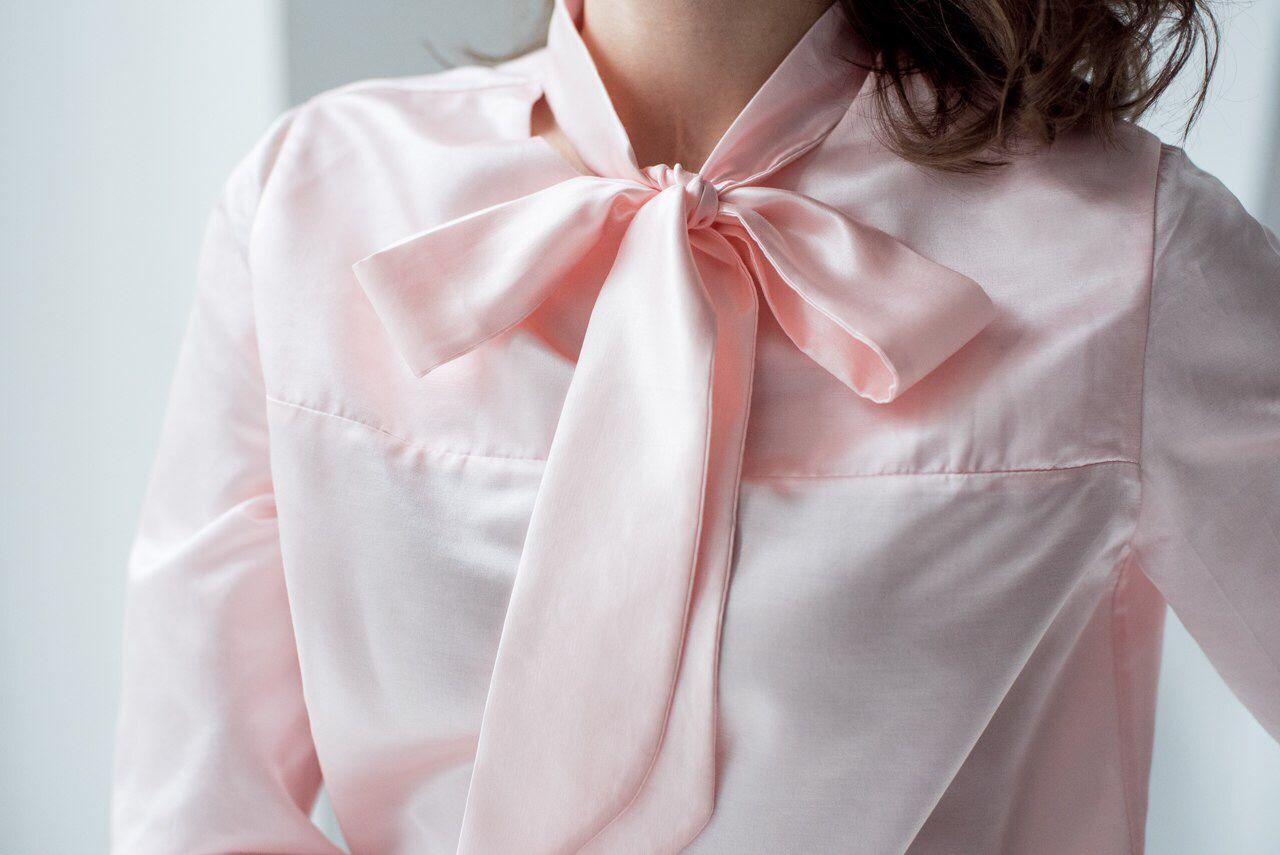 Как сшить блузку с бантом своими руками