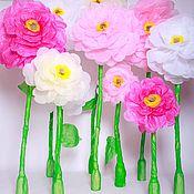 Цветы и флористика ручной работы. Ярмарка Мастеров - ручная работа Большие цветы на стойке. Handmade.