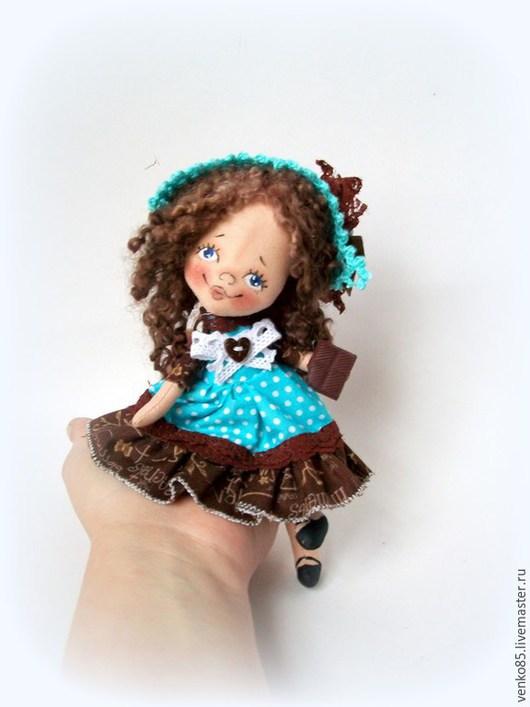 Коллекционные куклы ручной работы. Ярмарка Мастеров - ручная работа. Купить Чудо на ладошке Бирюза с Шоколадкой. Handmade. Бирюзовый