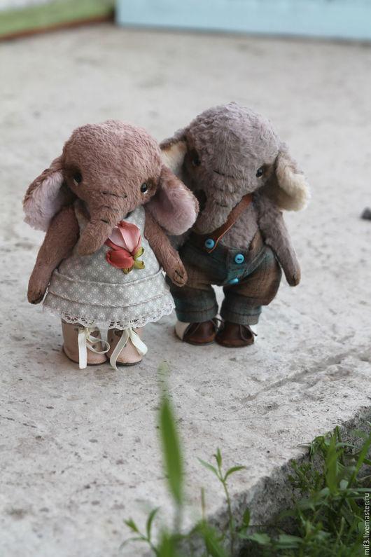 Мишки Тедди ручной работы. Ярмарка Мастеров - ручная работа. Купить Тедди слон. Мол и Лея. Handmade. Кремовый