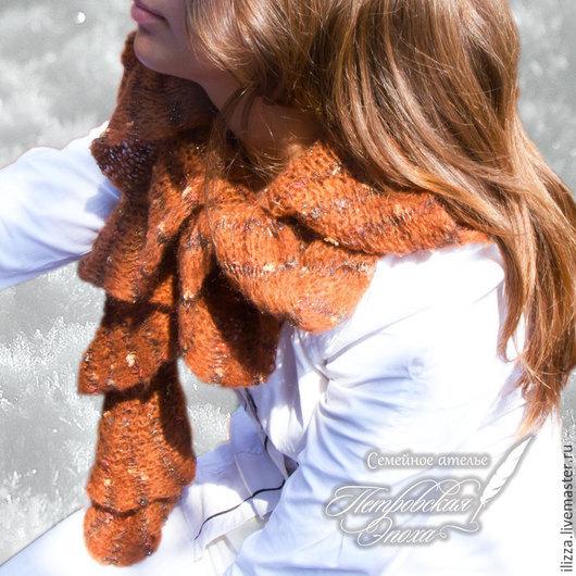Комплекты аксессуаров ручной работы. Ярмарка Мастеров - ручная работа. Купить Шарф  «Каштан» коричневый. Handmade. Зима, зимний шарф