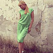 """Одежда ручной работы. Ярмарка Мастеров - ручная работа Вязаный костюм """"Зелень"""". Handmade."""