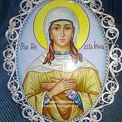 """Картины и панно handmade. Livemaster - original item Icon ,,Saint lrina"""". Handmade."""