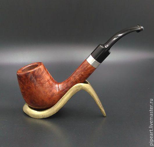Подарки для мужчин, ручной работы. Ярмарка Мастеров - ручная работа. Купить Курительная трубка 5-05. Handmade. Коричневый, Эбонит