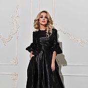 Одежда handmade. Livemaster - original item Evening gown black dress of brocade. Handmade.