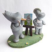 Куклы и игрушки handmade. Livemaster - original item behemoth-the artist. ceramics. figurines of hippos. Handmade.