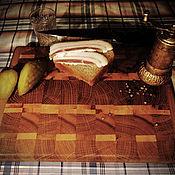 Для дома и интерьера ручной работы. Ярмарка Мастеров - ручная работа Доска разделочная торцевая  Подарок женщине Подарок мужчине. Handmade.