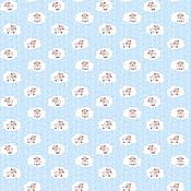 Материалы для творчества ручной работы. Ярмарка Мастеров - ручная работа Фланель Овечки на голубом. Handmade.